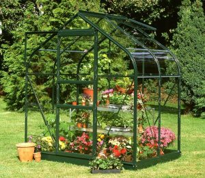 Halls Supreme 6x4 Greenhouse in Green