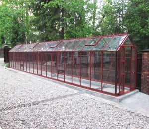 Elite Compact Greenhouse in Red