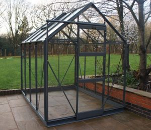 Elite High Eave Greenhouse in Graphite