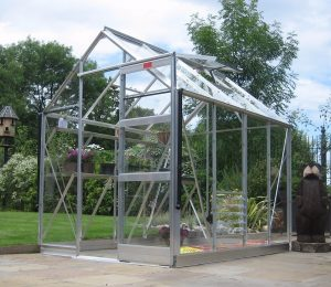 Elite High Eave Greenhouse in Silver