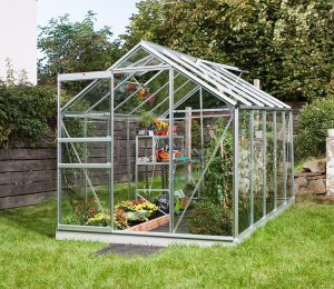 VitaVia Venus Greenhouse 10x6 Silver Toughened