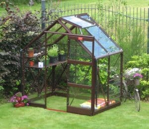 Elite Craftsman Greenhouse in Brown