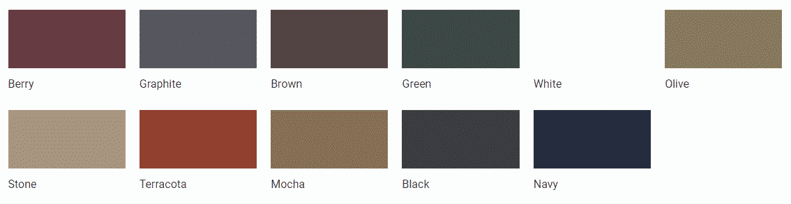 Elite Greenhouse Powder Coating Colours 2019