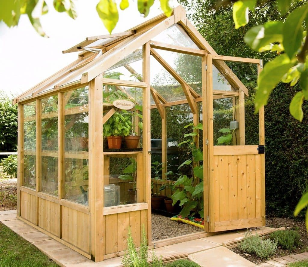A Forest vale greenhouse in 6x8 size.