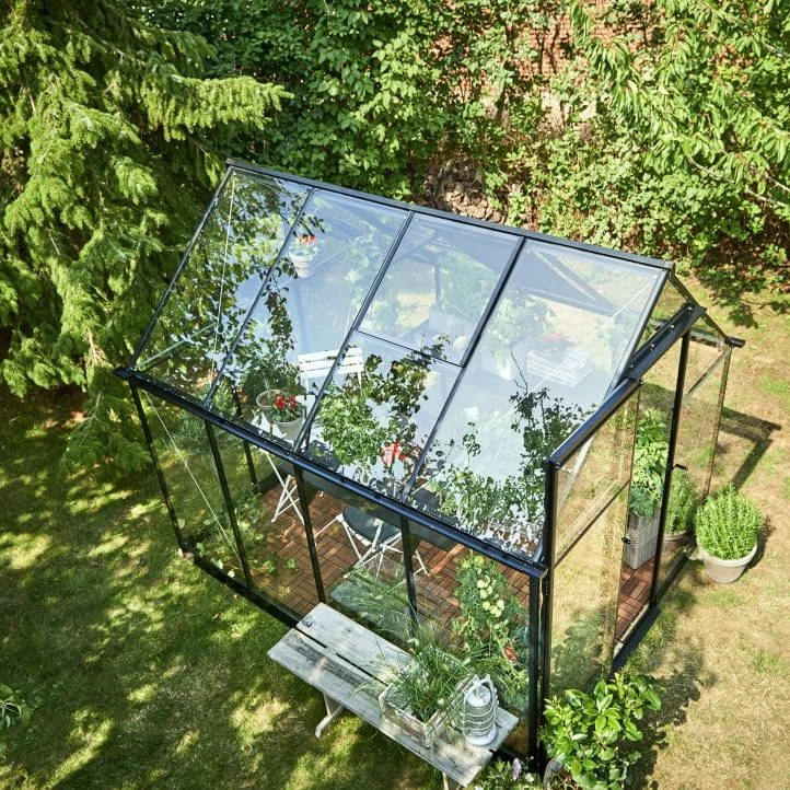 Birds Eye View of a Qube Greenhouse